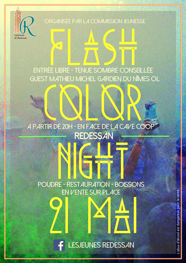 affiche flash color night imprim1